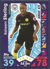 TOPPS MATCH ATTAX 2016-17 #370-MANCHESTER CITY-RAHEEM STERLING-AWAY KIT