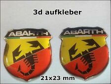 2x 3D FIAT ABARTH SCORPION Emblem Logo   STICKERS