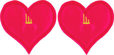 SHWINGS Pink Neon Heart clip on for shoes designer Shwings NEW 13106