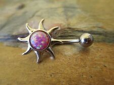 Pretty Sun Lab Opal  Belly Button Navel Ring Piercing