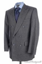 CARROLL & CO Chester Barrie Gray Striped Flannel Wool Jacket Pants SUIT - 40 R