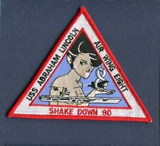 CVN-72 USS ABRAHAM LINCOLN SHAKE DOWN CRUISE 1990 US Navy Ship Squadron Patch
