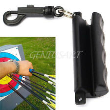 Black Silicon Gel Archery Arrow Puller for Target Hunting Bow Shooting Keychain