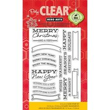 Hero Arts Clear Stamps - Christmas Banners & Messages CL721  #1210