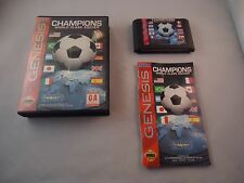 Champions World Class Soccer  (Sega Genesis 1993) w/ Box manual game