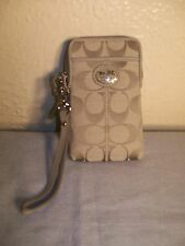 NWT Coach Poppy Signature Metallic Universal Case Wallet #62106