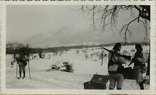 PHOTO ANCIENNE - VINTAGE SNAPSHOT - MILITAIRE CHASSEUR ALPIN - ALPIN SOLDIER