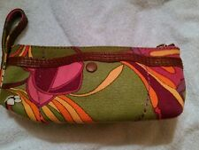 Lucky Brand Multi Wristlet Fabric Canvas Wallet Cosmetic Purse Zip Top New