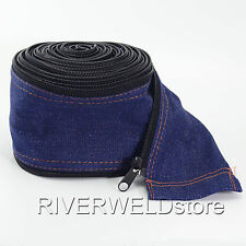 TIG Torch Cable Cover Cowboy Zipper Jacket 7.5 Meter & 25 Foot Length