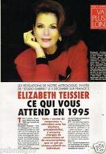 Coupure de presse Clipping 1994 (3 pages) Elizabeth Teissier