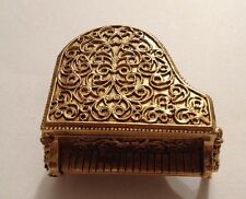 Vintage Avon Solid Perfume Gold Baby Grand Piano Empty 1971 (D59)
