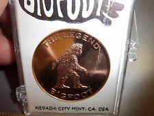 "Bigfoot ""the Legend"" Souvenir Coin token with Sasquatch & other names on back"