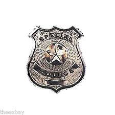 Silver Nickel SPECIAL POLICE Metal Badge Shield Cop