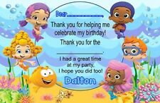 Bubble Guppies Birthday Party Thank You Note Cards Personalized Custom