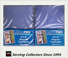 "Ultra Pro 3""x4"" Regular NEW Top Loaders Pack Of 25 x 2 packs-Best for NBA cards"