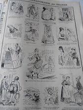 Caricature 19èm Pèle mèle de dessins L'Hydrothérapomanie