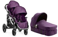 Baby Jogger City Select Twin Double Stroller Amethyst w/ Second Seat & Bass