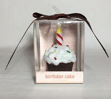 Scented Cupcake Candle Gift Birthday Cake Celebration Present White icing on top