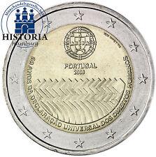 Portugal 2 Euro Gedenkmünze 2008 bfr. 60 Jahre Menschenrechte
