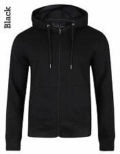 Smith & Jones New Men's Full Zip Hooded Sweatshirt Plain Fleece Hoodie Slim Fit