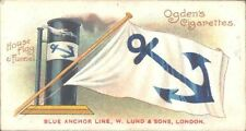 Ogdens - Flags & Funnels of Leading Steamship Lines - 49 - Blue Anchor Line