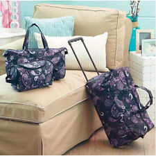 Kids Luggage Sets For Girls Women Teens Toiletry Tote Rolling Duffle Bag Paisley
