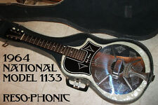 1963 National/Supro/Valco 1133 Reso-Phonic Pearl White Resonator Guitar w/Case!