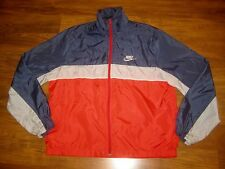 Vtg 90s NIKE Mens LARGE Windrunner Color Block NAVY TAG windbreaker Coat Jacket