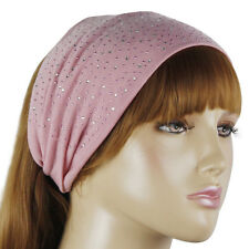 PINK RHINESTONE STUDDED HEAD WRAP HAIRBAND HAIR BAND #LHP087