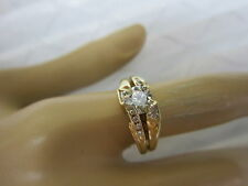 GORGEOUS ESTATE 14 KT GOLD 1.13 CTW FANCY CHAMPAGNE DIAMOND RING !!!!!!!!!!
