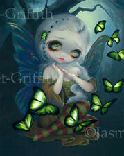 Jasmine Becket-Griffith art print SIGNED goth green fairy Absinthe Butterflies