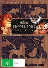 The Lion King Trilogy (1,2,3) - DVD Region 4 VG Condition