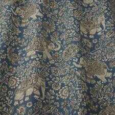 Iliv Samira Indira Indigo Curtain/Uphol Indian Elephant Design Fabric