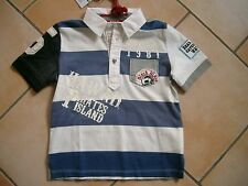 (C232) RARE -The Kid Boys Polo Shirt mit Stickerei Aufnähern & Logo Druck gr.98