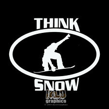 THINK SNOW SNOWBOARD vinyl sticker decal for Car Truck Skiing Helmet Face Board