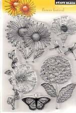 New Penny Black RUBBER STAMP clear Acrylic FLOWER FESTIVAL set free usa ship