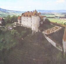 panoramic jigsaw puzzle 700 pcs Swiss Vista Gruyères castle and valley Alps