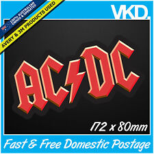 ACDC Sticker/Decal -  Classic Band Music Vinyl Rock Car Skateboard BBQ 4x4 Angus