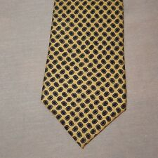 "Geometric Floral Yellow Black Tie Necktie 54"" Hickok Made U.S.A. Flowers"