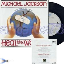 "MICHAEL JACKSON ""HEAL THE WORLD"" RARE 45RPM + POSTER"