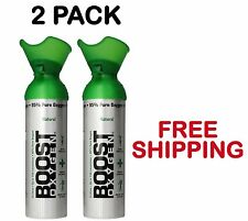 2 Pack Boost Oxygen Bar In A Can Oxygen Therapy Energy 22 oz Cans Free Shipping