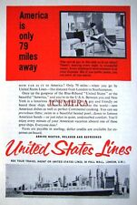 1960s 'United States Lines' Cruises to U.S.A Advert #1 - Small Photo Print Ad