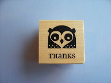 INKADINKADO RUBBER STAMPS OWL THANKS STAMP