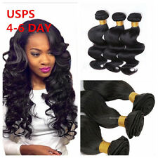 3Bundles 6A 100% Unprocessed Virgin Body Wave Human Hair Brazilian Peruvian 150g