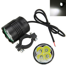Aluminum Motorcycle Motorbike 4 LED Front Headlight Spot Light Head Lamp 40W