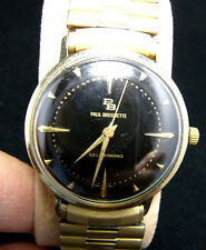 VINTAGE NICE CONDITION PAUL BREGUETTE  10K GOLD FILLED  AUTOMATIC MEN'S WATCH