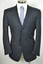 (40R) Raffaele Caruso Men's Navy Blue Pinstripe Italian Sport Coat Suit Jacket