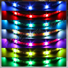 """4 x 12"""" SMD LED Strips 7 Color Under glow Underbody Wheel Lighting Universal 5"""