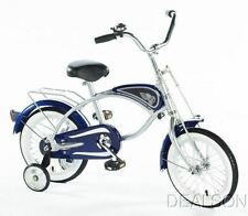 """Bicycle With Training Wheels Blue Cruiser 14"""" Ride on Toy by Morgan Cycle New"""