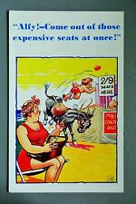 R&L Postcard: HB Comic 6278 Donkey, Expensive Seats, Beach Entertainment